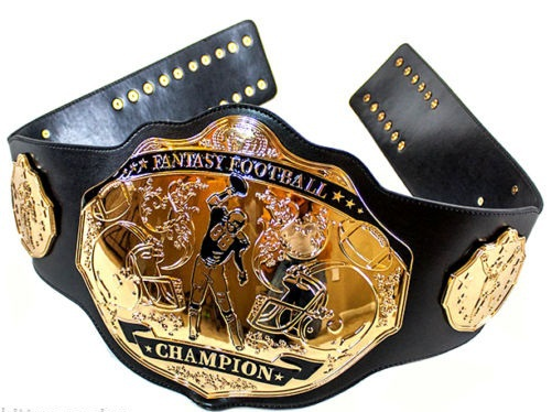 Fantasy Football Champion Belt NFL Award Belts Black & Gold
