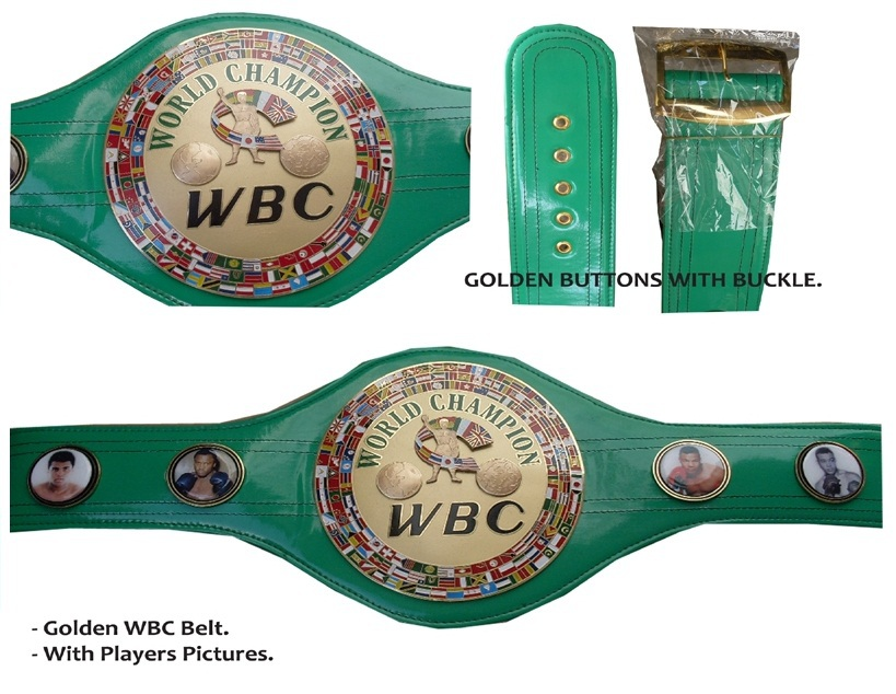 WBC Championship Belt Boxing Legends Gold plated Replica Belt 1: