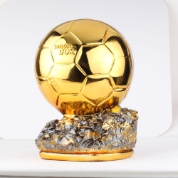 Ballon d'Or  Football World Player of the Year Trophy Resin